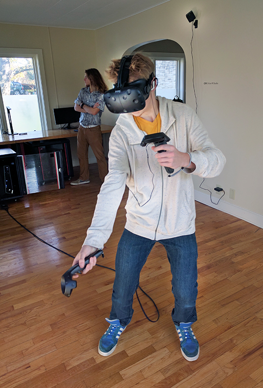 Student testing virtual reality system